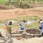 The Water Project: Kaukuswi Community A -  Shallow Well Construction