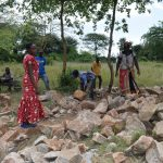 The Water Project: Kyamatula Secondary School -  Community Contributed Rocks For Tank Construction