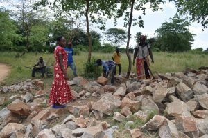 The Water Project:  Community Contributed Rocks For Tank Construction