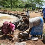 The Water Project: Kyamatula Secondary School -  Community Members Help With The Tank Construction
