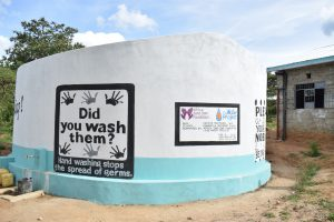 The Water Project:  Completed And Painted Tank