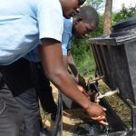 The Water Project: Kyamatula Secondary School -  Handwashing At New Station