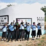 The Water Project: Kyamatula Secondary School -  Students Drink Water From The Tank