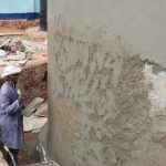 The Water Project: Kamulalani Primary School -  Cement Work Outside Of Tank