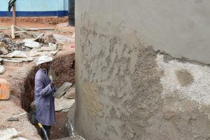 The Water Project:  Cement Work Outside Of Tank