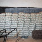 The Water Project: Kamulalani Primary School -  Stored Cement Bags