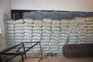 The Water Project:  Stored Cement Bags