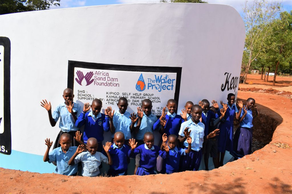 The Water Project : kenya19242-students-at-the-tank
