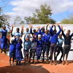 The Water Project: Kamulalani Primary School -  Students Jump For Joy
