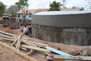 The Water Project:  Tank Nearing Completion