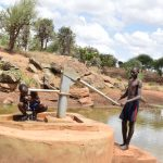 The Water Project: Maluvyu Community D -  Pumping The Well