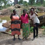 The Water Project: Maluvyu Community D -  Stella Komu Mary Mutua And Field Officer Lilian Kendi