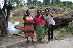 The Water Project:  Stella Komu Mary Mutua And Field Officer Lilian Kendi