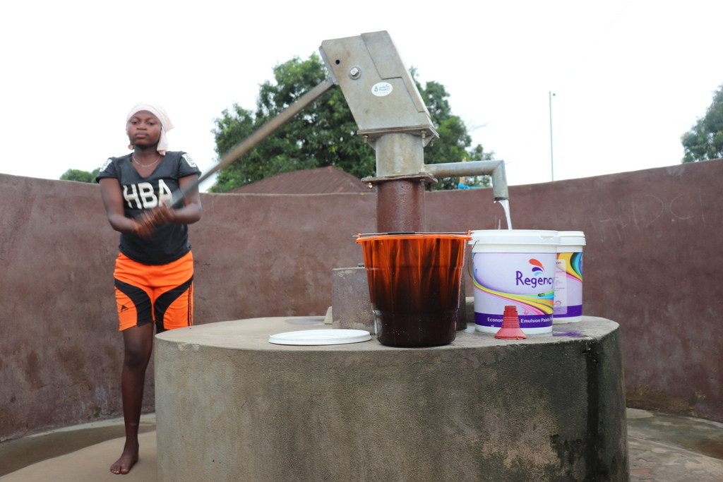 The Water Project : sierraleone18260-fetching-water-a-year-later