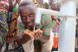 The Water Project:  Church Pastor Rejoicing For Safe Drinking Water Provived The Community