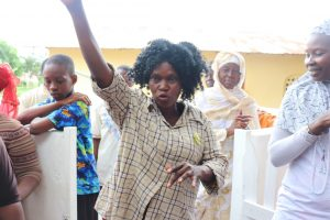 The Water Project:  Community Member Teaching About Personal Hygiene