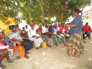 The Water Project:  Facilitator Speaks To Community Members