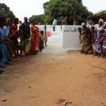 The Water Project: Targrin Health Post -  Community Members Gathered At The Well Dedication