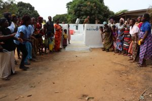 The Water Project:  Community Members Gathered At The Well Dedication