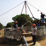 The Water Project: Targrin Health Post -  Drilling
