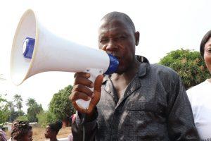 The Water Project:  Ibrahiiim Kamara Making Statement
