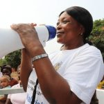 The Water Project: Targrin Health Post -  Nurse Hulamatu Sesay Giving Speech