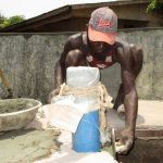 The Water Project: Targrin Health Post -  Pad Construction