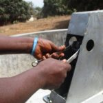 The Water Project: Targrin Health Post -  Pump Installation