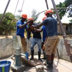 The Water Project: Targrin Health Post -  Yield Test