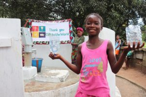 The Water Project:  Child Happy For Clean Water