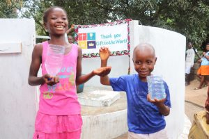 The Water Project:  Kids Drinking Weater From The Well