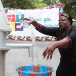 The Water Project: Lungi, Suctarr, 10 Khalil Lane -  Woman Rejoicing For Safe Drinking Water
