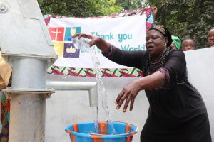 The Water Project:  Woman Rejoicing For Safe Drinking Water