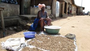 The Water Project:  Drying Groudnuts