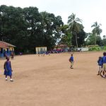 The Water Project: Lungi, Lungi Town, Holy Cross Primary School -  Students Outside