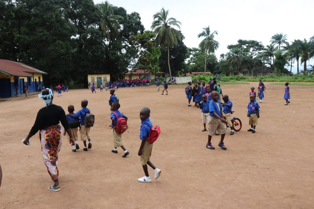 The Water Project : sierraleone19285-students-playing