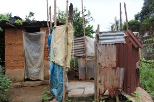 The Water Project:  Latrine And Bath Shelter