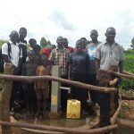 The Water Project: Rubana Yagilewo Community -  Beneficiaries Posing By The Water Point