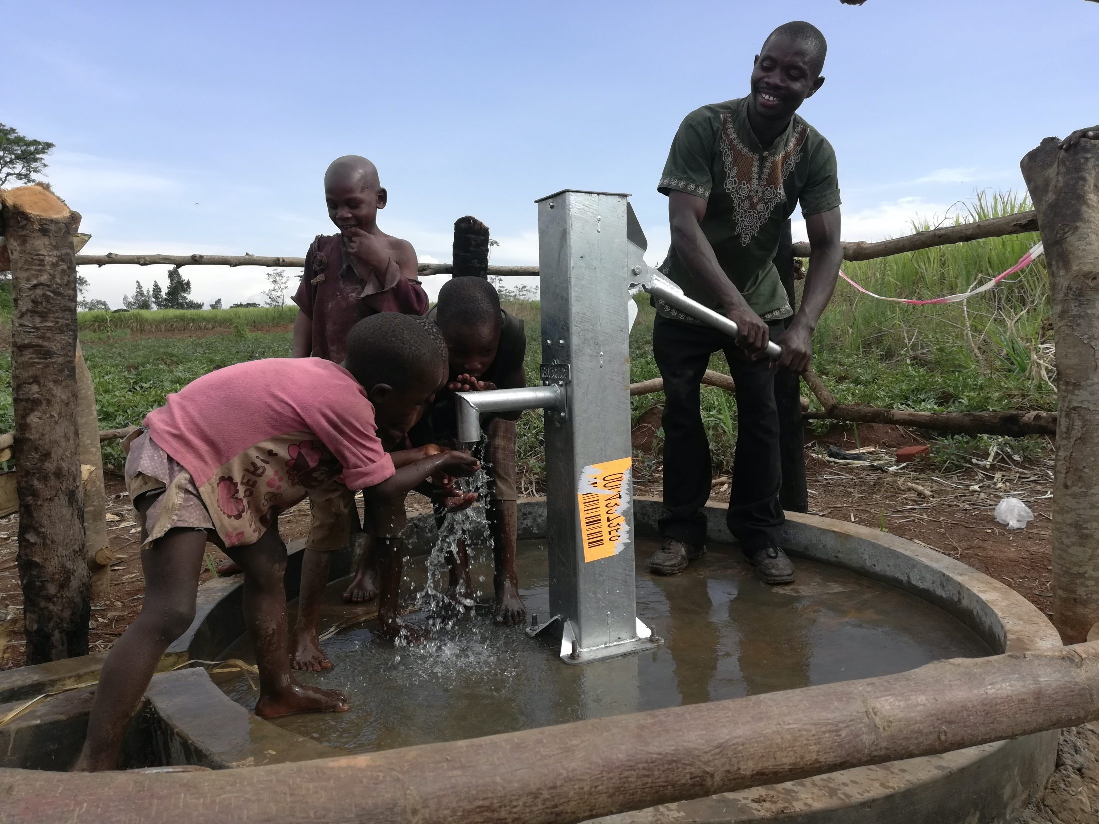 The Water Project : uganda19283-kids-at-the-well