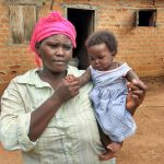 The Water Project: Rubana Yagilewo Community -  Roselyne And Baby