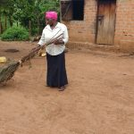 The Water Project: Rubana Yagilewo Community -  Roslyne Kunihira Sweeping At Home