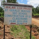 The Water Project: St. Gerald Mayuge Secondary School -  Signpost