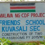The Water Project: Friends Kuvasali Secondary School -  School Sign