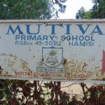 The Water Project: Mutiva Primary School -  School Sign