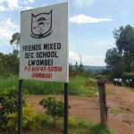 The Water Project: Friends Mixed Secondary School Lwombei -  School Sign