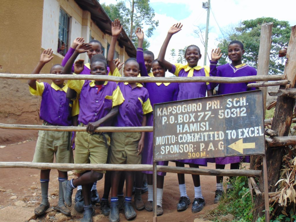The Water Project : 0-kenya20111-students-posing-at-the-school-gate