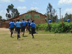 The Water Project:  Students Run To Class After A Short Break