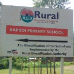 The Water Project: Kapkoi Primary School -  School Sign