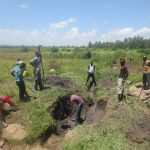 The Water Project: Chegulo Community, Sembeya Spring -  Excavation Begins
