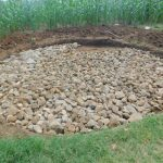 The Water Project: Elufafwa Community School -  Raintank Stone Base